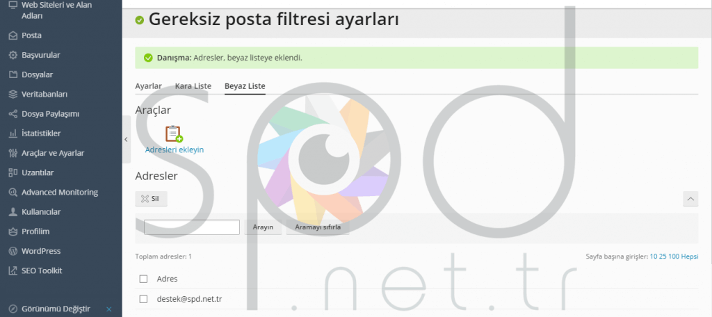 Plesk Panel Gereksiz Posta Filtresi Ayarları